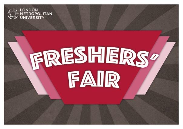 Freshers Fair - A5 landscape flyer